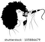 vector illustration of an afro... | Shutterstock .eps vector #105886679