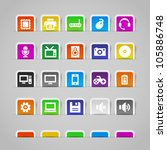 computer icons on colorful... | Shutterstock .eps vector #105886748