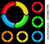 third set of colored arrows.... | Shutterstock .eps vector #105886790