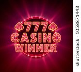casino 777 winner banner text... | Shutterstock .eps vector #1058871443