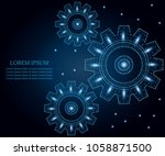 gear or cog icon with triangles ... | Shutterstock .eps vector #1058871500