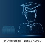 graduation man avatar in... | Shutterstock .eps vector #1058871980