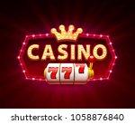 casino 777 slots banner text ...   Shutterstock .eps vector #1058876840