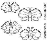 vector set of butterflies | Shutterstock .eps vector #1058882630