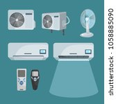 vector set of devices for... | Shutterstock .eps vector #1058885090