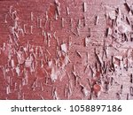 close up red wooden wall... | Shutterstock . vector #1058897186