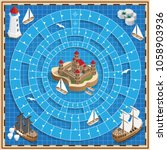 a board game on the marine... | Shutterstock .eps vector #1058903936