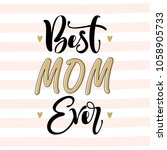 mother's day greeting card with ... | Shutterstock .eps vector #1058905733
