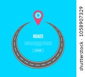 roads banner with circle...   Shutterstock .eps vector #1058907329