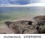 beautiful seascape at huahin... | Shutterstock . vector #1058908940