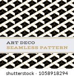 art deco seamless pattern with... | Shutterstock .eps vector #1058918294