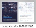 brochure layout template in... | Shutterstock .eps vector #1058919608