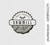 sawmill logo. retro styled...   Shutterstock .eps vector #1058921174