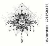 abstract zen tangle zen doodle  ... | Shutterstock .eps vector #1058926694