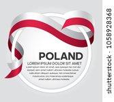 poland flag background | Shutterstock .eps vector #1058928368
