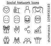 social media   social network...   Shutterstock .eps vector #1058930183