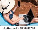 portrait beautiful woman...   Shutterstock . vector #1058934248