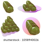 stuffed grape leaves. a food... | Shutterstock .eps vector #1058940026