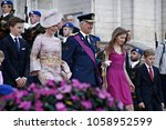 queen mathilde of belgium and... | Shutterstock . vector #1058952599