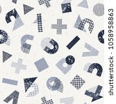 seamless vector pattern with... | Shutterstock .eps vector #1058958863