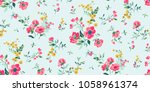 seamless romantic ditsy floral... | Shutterstock .eps vector #1058961374