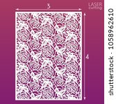 die cut ornamental panel with...   Shutterstock .eps vector #1058962610