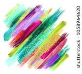 abstract watercolor brush... | Shutterstock . vector #1058964620