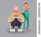 cardiovascular disease...   Shutterstock .eps vector #1058966744