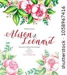 wedding invitation design of... | Shutterstock . vector #1058967416