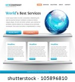 web site design template with a ... | Shutterstock .eps vector #105896810
