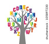 simple stylized tree with... | Shutterstock .eps vector #105897230