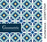 geometric seamless pattern. 3d...   Shutterstock .eps vector #1058972969