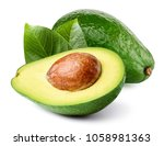 Avocado With Leaf Isolated On...