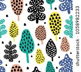 vector seamless pattern ... | Shutterstock .eps vector #1058982233