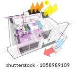 3d illustration of diagram of...   Shutterstock .eps vector #1058989109