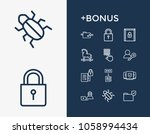 secure icon set and online...