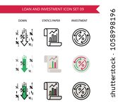 loan and investment icon set... | Shutterstock .eps vector #1058998196