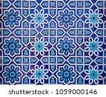 traditional uzbek pattern on...   Shutterstock . vector #1059000146