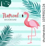 abstract tropical background... | Shutterstock .eps vector #1059002126