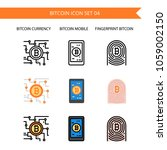 bitcoin icon set.cryptocurrency ... | Shutterstock .eps vector #1059002150