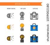 bitcoin icon set.money digital... | Shutterstock .eps vector #1059002180