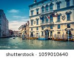 traditional view of a street in ... | Shutterstock . vector #1059010640