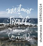 travel. vector hand drawn... | Shutterstock .eps vector #1059013214