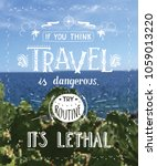travel. vector hand drawn... | Shutterstock .eps vector #1059013220