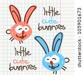 vector illustration of funny... | Shutterstock .eps vector #105901673