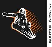 snowboarding emblem... | Shutterstock .eps vector #1059017423