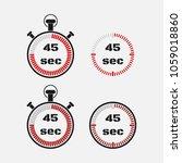 timer 45 seconds on gray... | Shutterstock .eps vector #1059018860