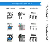 data processing icon set... | Shutterstock .eps vector #1059019730