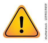 exclamation danger sign | Shutterstock .eps vector #1059019859