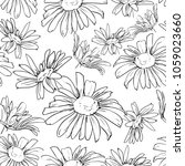 chamomile sketch on white... | Shutterstock .eps vector #1059023660